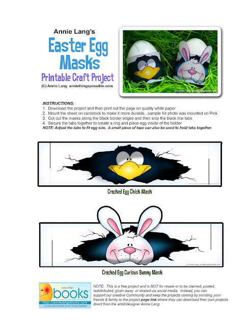 Print and craft Annie Lang's FREE project Page!