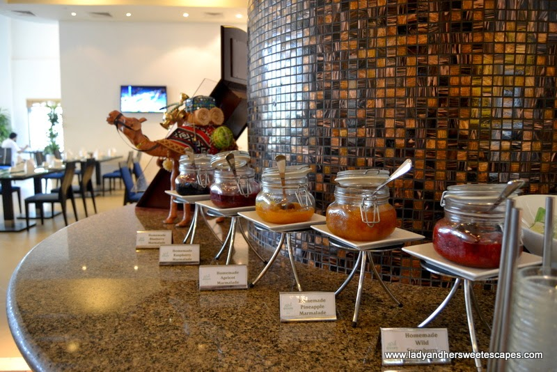 delicious homemade jams at The Ajman Palace