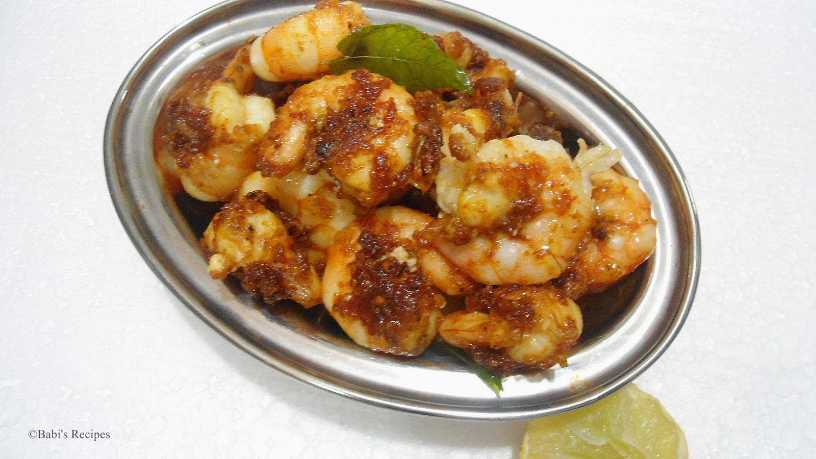 Babi S Recipes South Indian Easy Cooking Ideas Prawn Fry Prawn