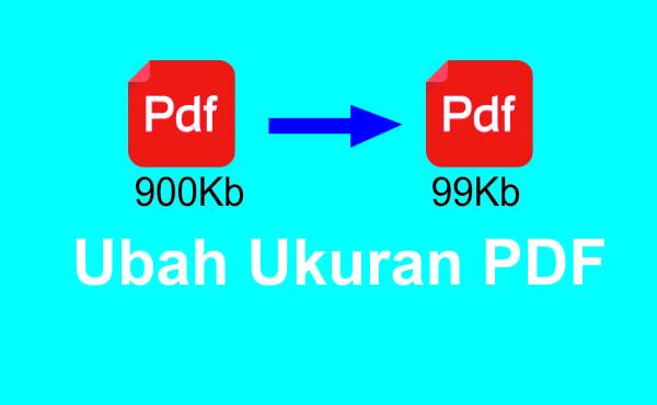 cara ubah ukran format pdf