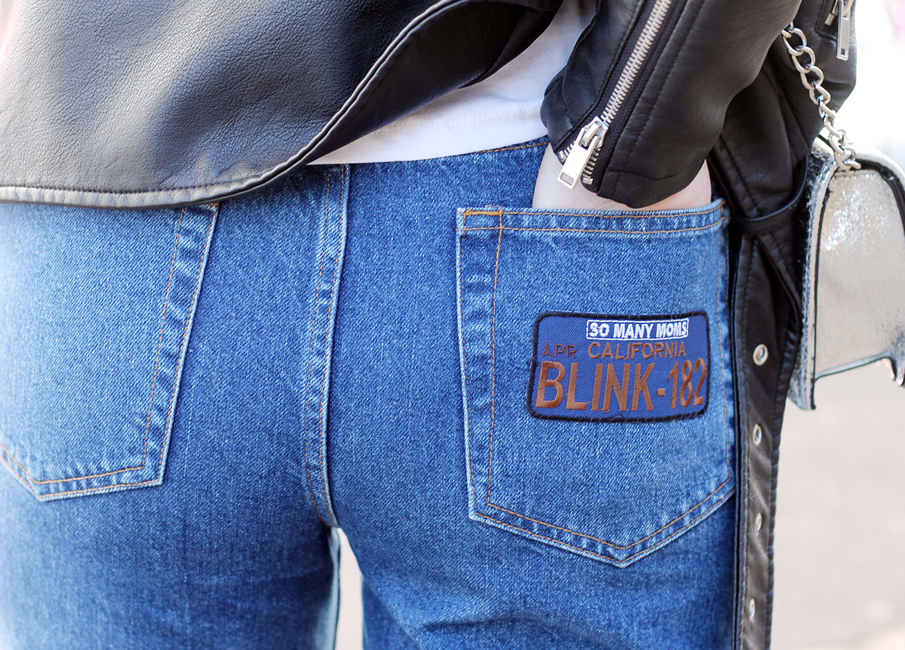 DIY JEANS BOYFRIEND EMBROIDERED JEANS WITH IRON ON PATCHES AND RAW STEP HEM | Tie Dye Eyes ...