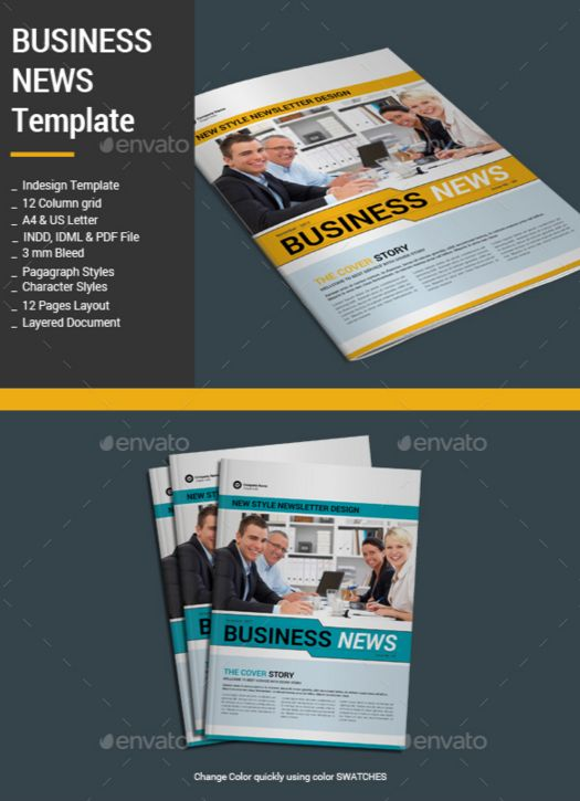 18. Business News Template
