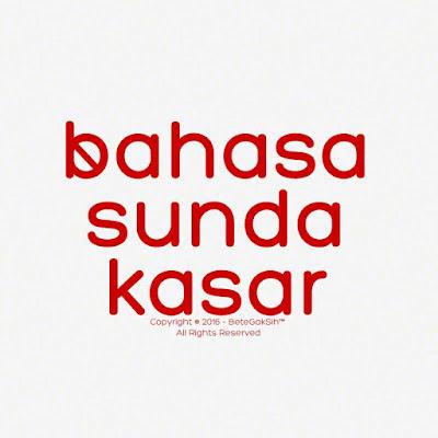 Bahasa Sunda Kasar