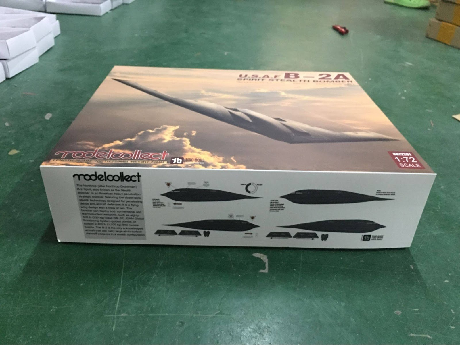 modelcollect the big box of the b 2 spirit 1 72 aircraft news. Black Bedroom Furniture Sets. Home Design Ideas