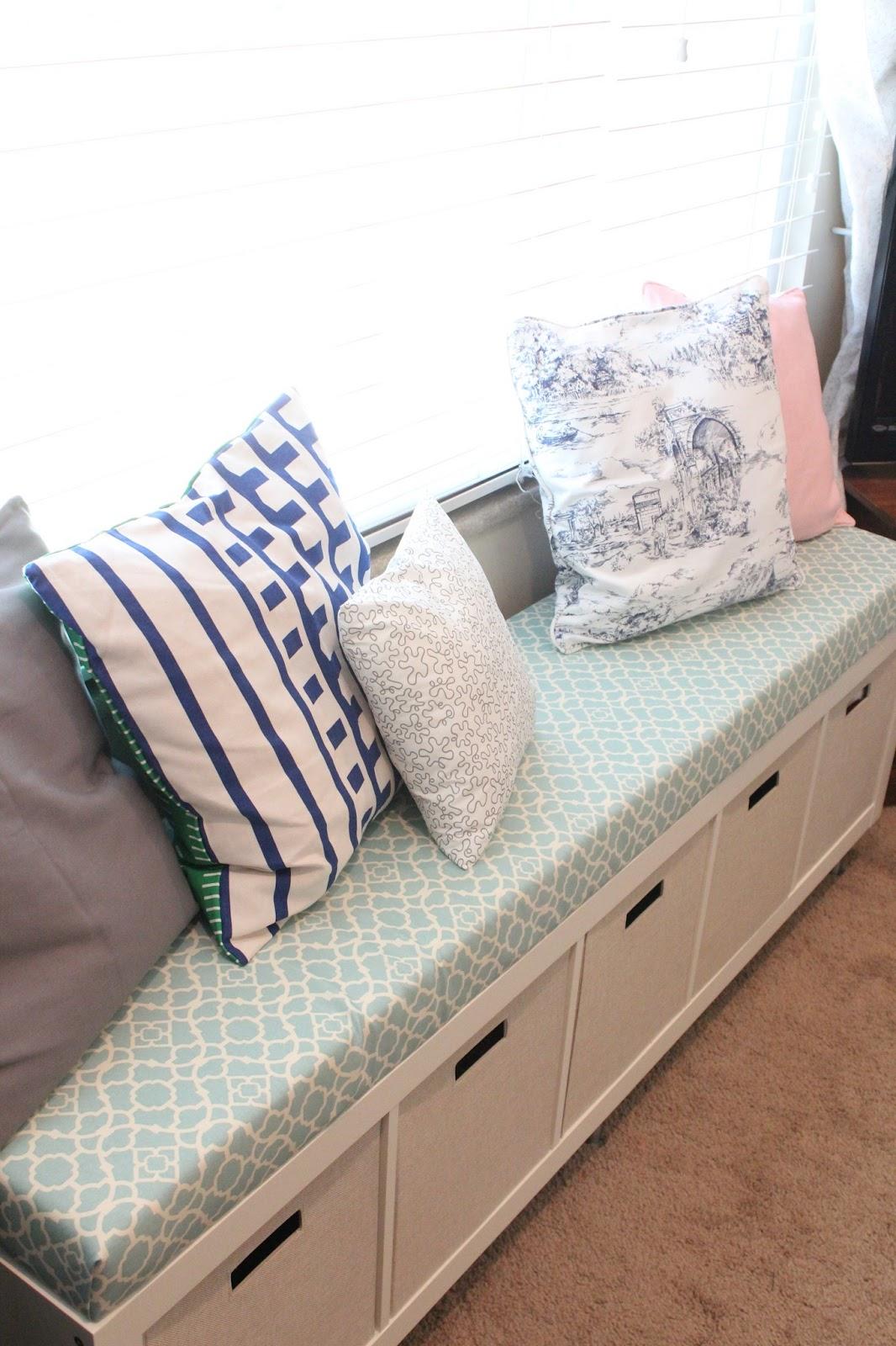 Ikea No Sew Window Bench Tutorial