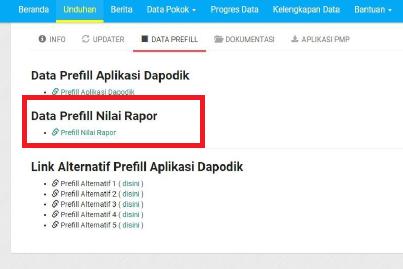 Cara Registrasi Data Prefill Nilai Rapor di Dapodik