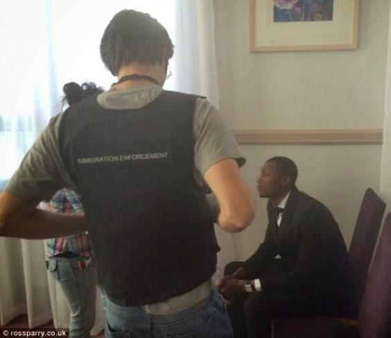 nigerian arrested uk fake