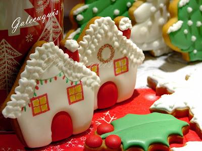 Galletas Navidad decoradas en glasa