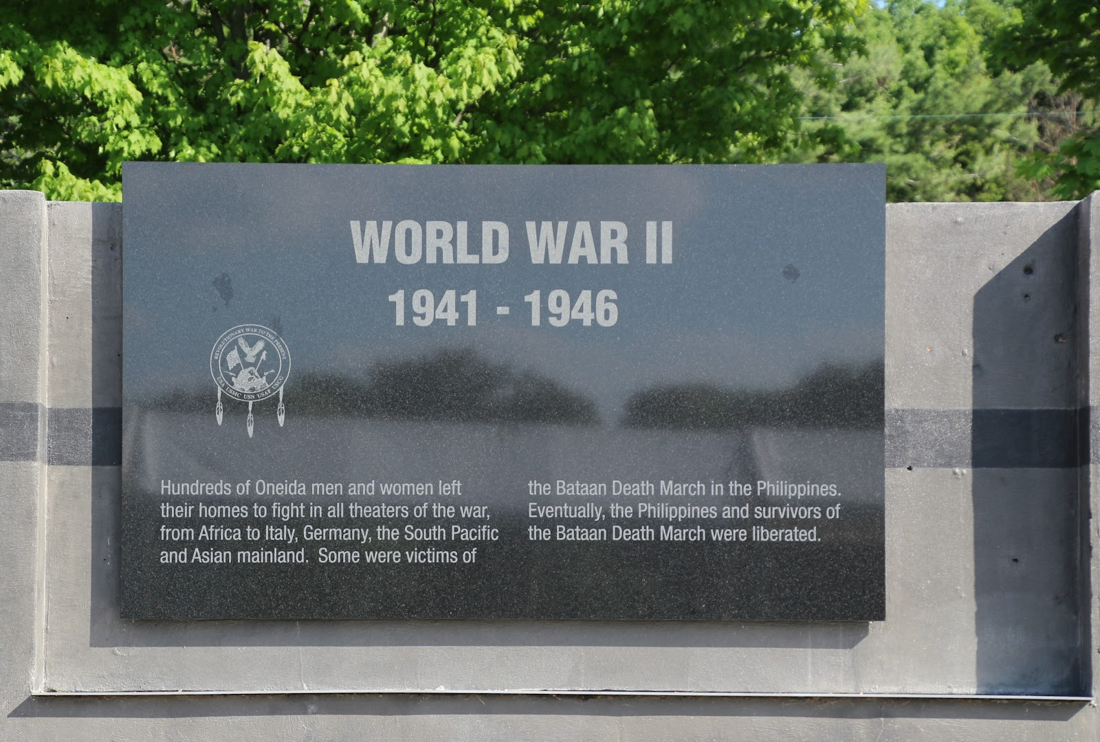 Wisconsin historical markers oneida veterans memorial world war ii oneida veterans memorial world war ii 1941 1946 publicscrutiny Image collections