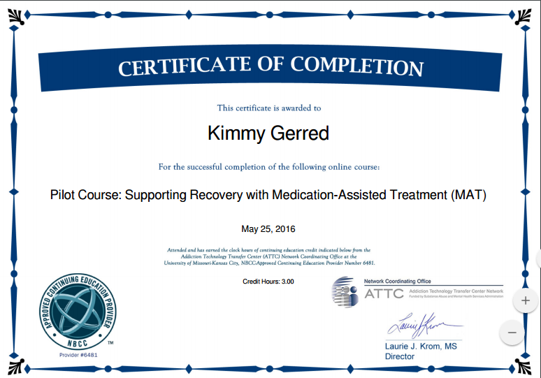 Medication Assisted Treatment (MAT) by NBCC