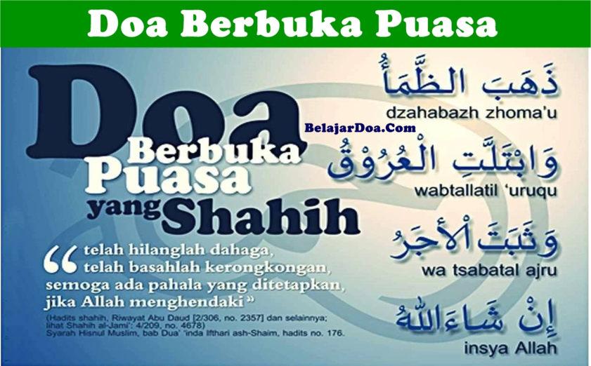 Lafal Bacaan Doa Berbuka Puasa Wajib dan Sunnah Yang Shahih Menurut Rasulullah SAW