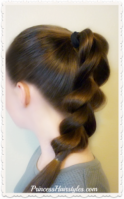 Hair hack! Pull through braid using half the elastics. Video instructions.