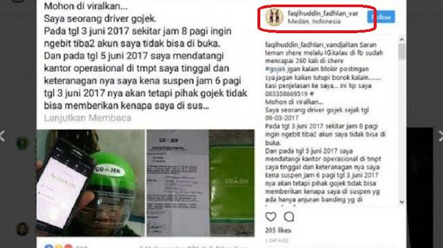 Sedih ! Kisah Pahit Driver GoJek Dipecat Secara Sepihak Tanya Netizen Upaya Hukum Apa yang Bisa Ditempuh !!