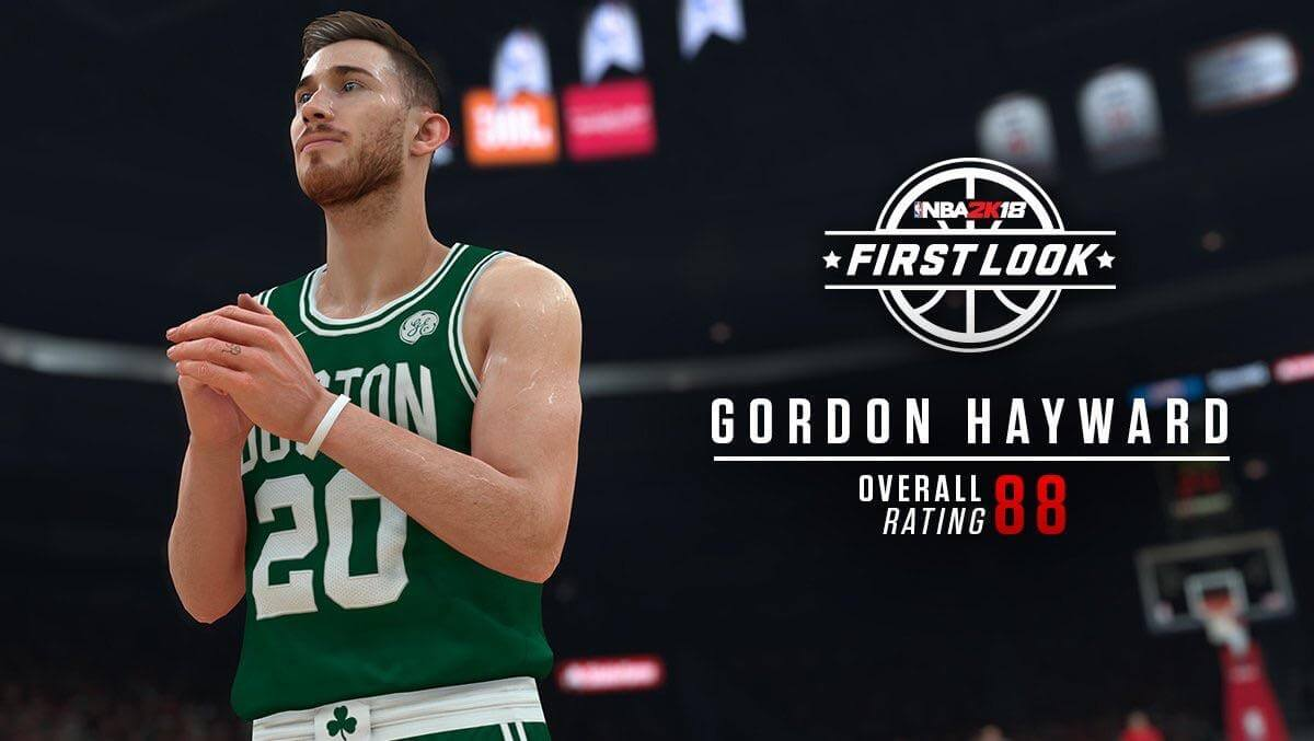 NBA 2K18 Gordon Hayward Screenshot