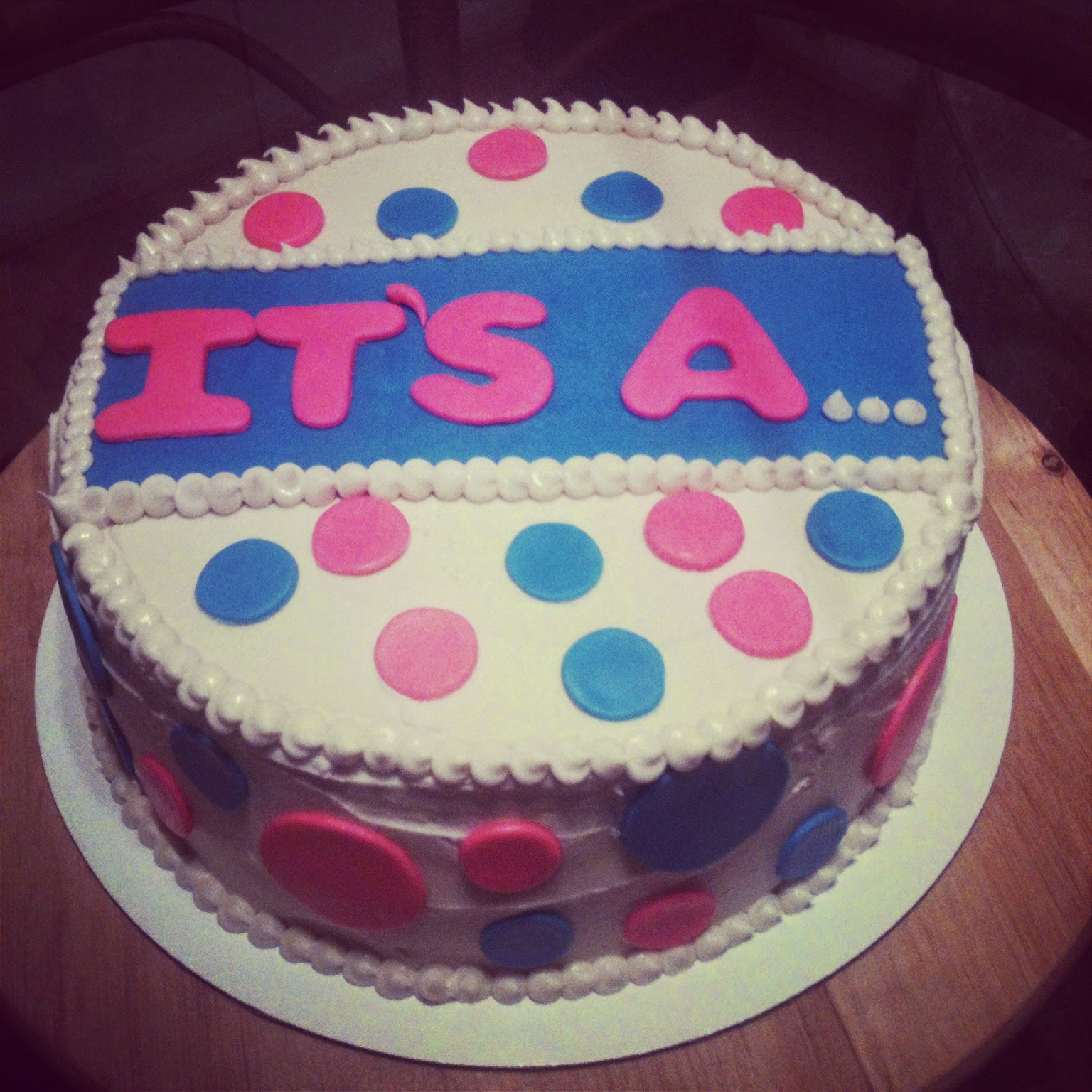 Mandy's cakes: Gender Reveal Cake