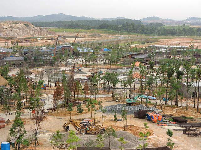 Construction of Legoland Malaysia