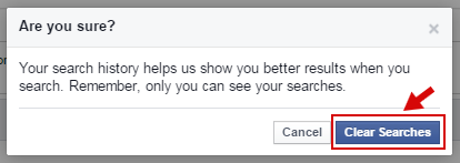 How to Delete Facebook Search History?