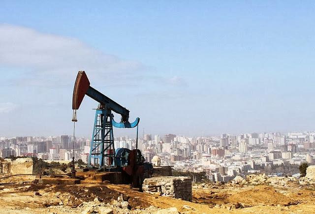 Bakü bir petrol bölgesi