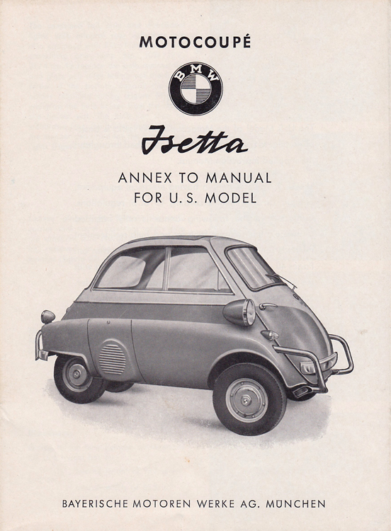 Peachy Bzs Bmw Isetta 300S Owners Manual Update Wiring Cloud Staixuggs Outletorg