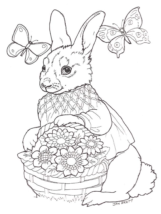 jan brett free coloring pages - photo#19