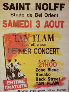 Affiche concert Saint Nolff - groupes Tan Flam, Zone Bleue