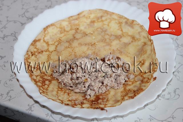 рецепт блинчиков с мясом с пошаговыми фото