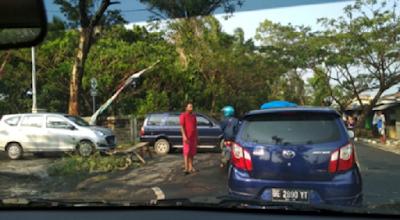 Angin Puting Beliung Hantam Daerah Sukarame Bandarlampung