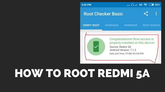 How to Root Redmi 5A