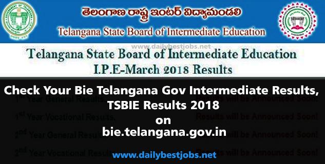Bie Telangana Gov Intermediate Results, TSBIE Results 2018, bie.telangana.gov.in Results.cgg.gov.in