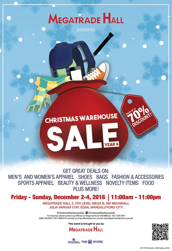 b3b5ccad6b6 Manila Shopper  The 6th Christmas Warehouse SALE at SM Megatrade ...