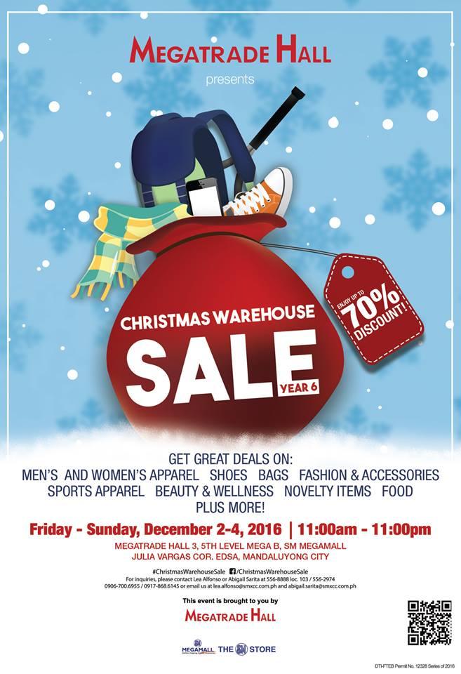 Manila Shopper  The 6th Christmas Warehouse SALE at SM Megatrade ... 2b14a8ad5