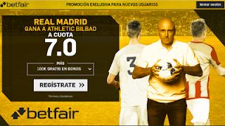 betfair supercuota victoria del Real Madrid al Athletic 2 diciembre
