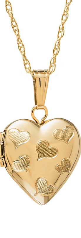 MIGNONETTE 14k Gold Heart Locket Necklace