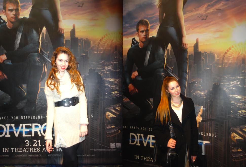 Annie Robinson, Caitlin Robinson, Divergent, Divergent Toronto, Divergent Premiere