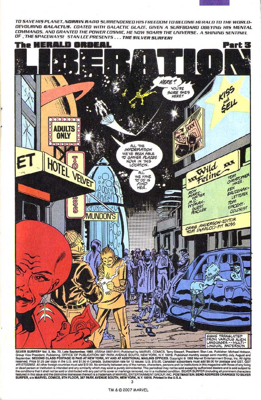 Read online Silver Surfer (1987) comic -  Issue #72 - 5