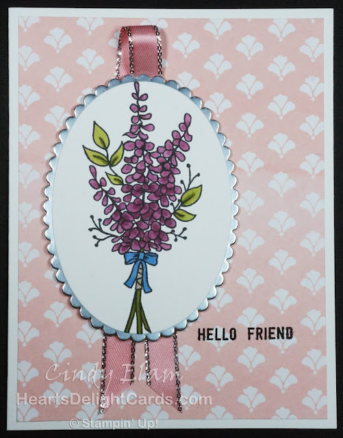 Heart's Delight Cards, Lots of Lavender, Sale-A-Bration 2018, Hello Friend, Stampin' Up!