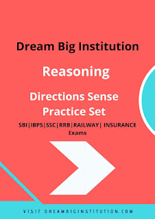 Direction sense Practice set E-Book - Dream Big Institution