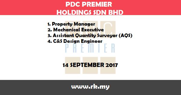 Jawatan Kosong di PDC Premier Holdings Sdn Bhd