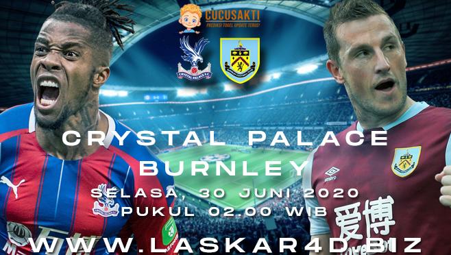 Prediksi Bola Crystal Palace vs Burnley Selasa 30 Juni 2020