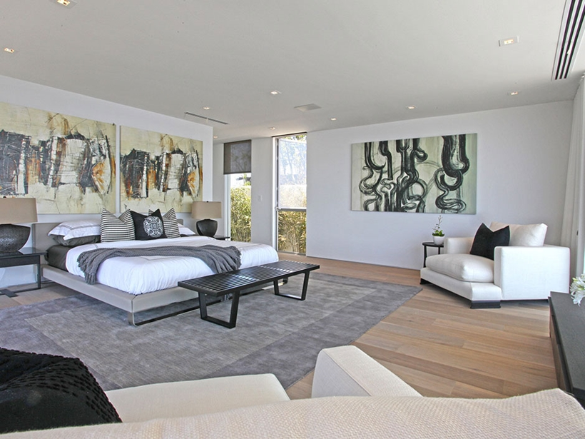 Bedroom in Sharp modern home on Sunset Strip
