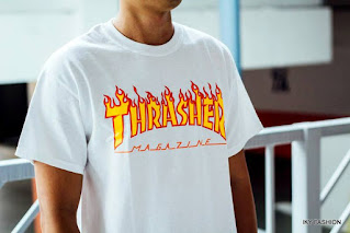 model kaos distro Thrasher mendunia