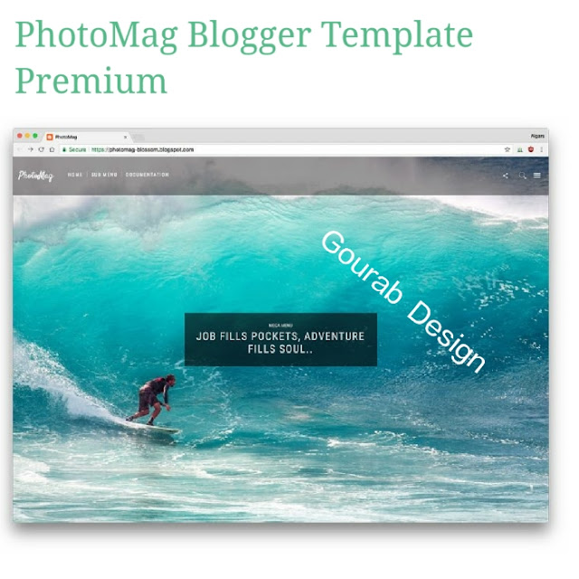 Photo mag blogger template