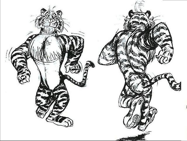Bob Jones sketch of the ESSO gasoline tiger 1960's