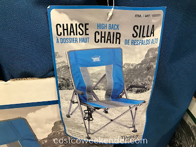 Have a seat even outside on the Timber Ridge High Back Bungee Chair