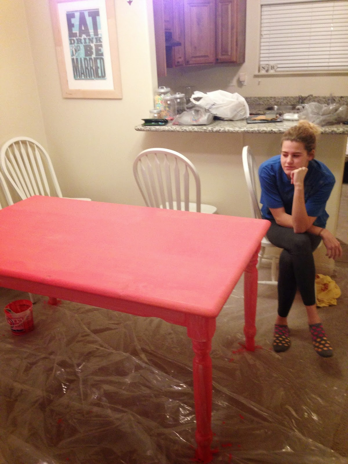 A Pink Kitchen Table | Miss Brimley