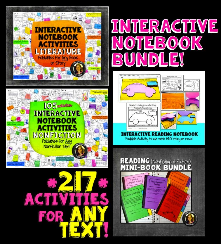 Interactive reading notebook activities bundle - both fiction and nonfiction