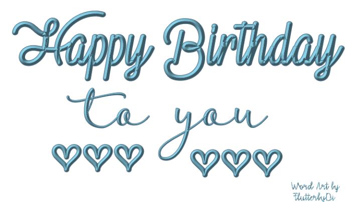 Escape From Reality Blog: FTU Happy Birthday Word Art by ...