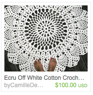 CamilleDesign's listing on Etsy for a cotton crocheted rug