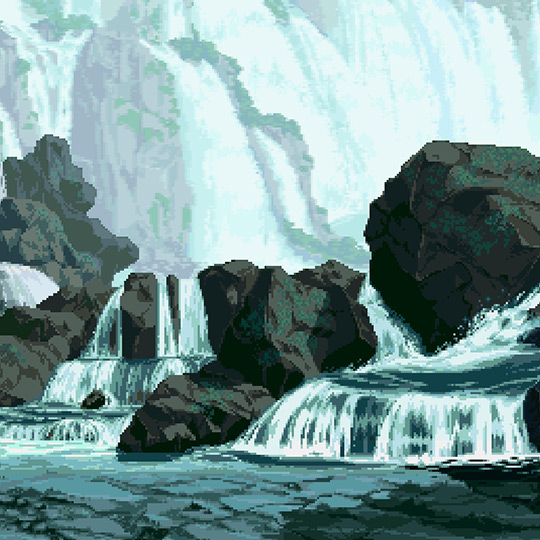 Pixel Waterfall Wallpaper Engine