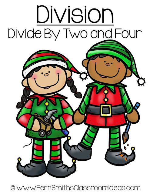 Fern Smith's Classroom Ideas Fern's Freebie Friday ~ FREE Christmas Math Division Center Games Divide By Two and Four. #TeachersPayTeachers #FernSmithsClassroomIdeas
